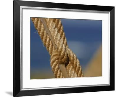 Knotted Rope in Ship Rigging--Framed Photographic Print
