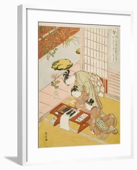 Knowledge (Chi), from the Series Five Cardinal Virtues, 1767-Suzuki Harunobu-Framed Giclee Print