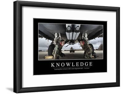 Knowledge: Inspirational Quote and Motivational Poster