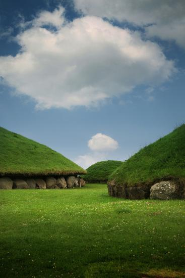 Knowth, Megalithic Ground Near Donore in the Boyne Valley, County Meath, Ireland- Bluehouseproject-Photographic Print