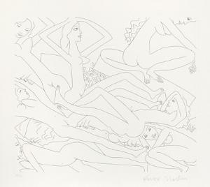 Dancing Nudes - II by Knox Martin