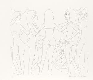 Dancing Nudes - III by Knox Martin