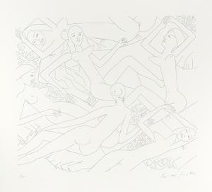 Dancing Nudes - VI by Knox Martin