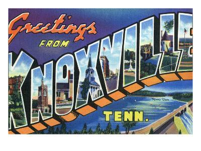 Knoxville, Tennessee - Large Letter Scenes-Lantern Press-Art Print