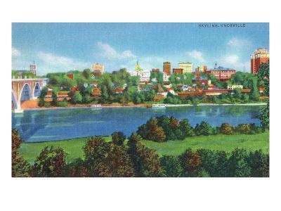 Knoxville, Tennessee - Panoramic View of the City Skyline-Lantern Press-Art Print