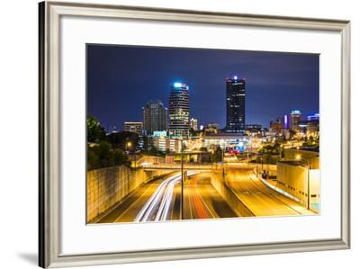 Knoxville, Tennessee, USA Downtown at Night.-SeanPavonePhoto-Framed Photographic Print