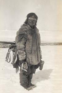 Caribou Eskimo Wearing Snow Glasses Made of Wood, Canada, 1921-24 by Knud Rasmussen