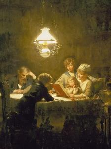 The Reading Lesson by Knut Ekvall