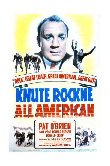 Knute Rockne All American - Movie Poster Reproduction--Art Print