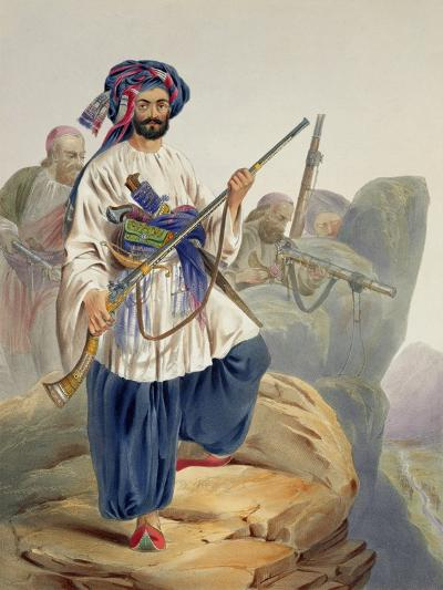 Ko-I-Staun Foot Soldiery in Summer Costume, Scenery, Inhabitants and Costumes of Afghanistan-James Rattray-Giclee Print