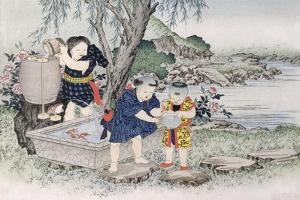 Goldfish from the Series 'Children's Games', 1888 by Kobayashi Eitaku