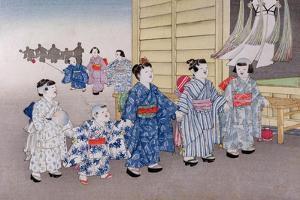 O-Bon Festival from the Series 'Children's Games', 1888 by Kobayashi Eitaku