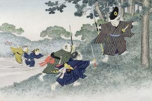 Playing at Warriors from the Series 'Children's Games', 1888 by Kobayashi Eitaku