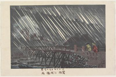Rain at Saegusa Bridge in Hakone, Ame, 1880