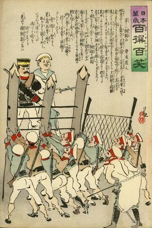 Russian Soldiers Hold the Japanese Soldiers Back