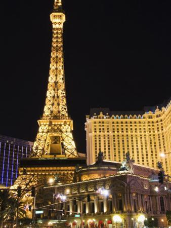 Eiffel Tower Reproduction at Paris Las Vegas Casino, Las Vegas, Nevada, USA