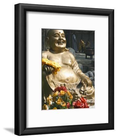 Golden Buddha Statue at Shaolin Temple, Birthplace of Kung Fu Martial Arts, Shaolin, Henan, China