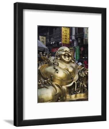 Golden Statue of a Reclining Laughing Buddha, Hangzhou, Zhejiang Province, China