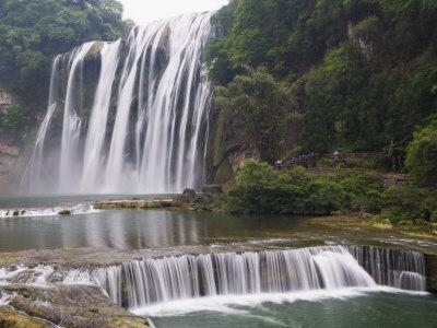 Huangguoshu Waterfall Largest in China 81M Wide and 74M High, Guizhou Province, China