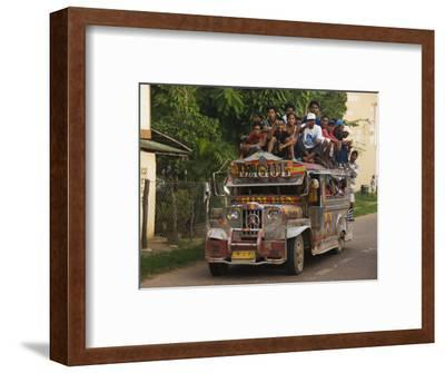 Jeepney Truck with Passengers Crowded on Roof, Coron Town, Busuanga Island, Philippines