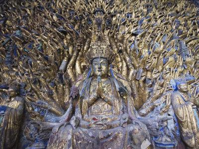Statue of Avalokitesvara with One Thousand Arms, Dazu Buddhist Rock Sculptures, China