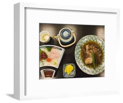 Traditional Japanese Meal of Sushi and Fish Head, Tokyo, Honshu Island, Japan