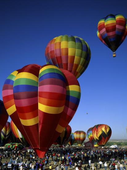 Colorful Hot Air Balloon in Sky, Albuquerque, New Mexico