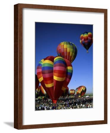 Colorful Hot Air Balloons in Sky, Albuquerque, New Mexico