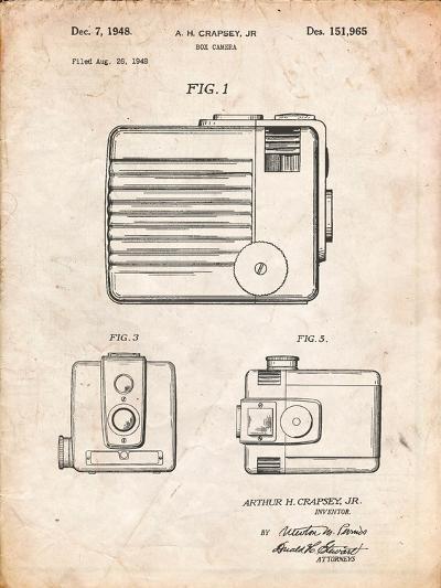 Kodak Brownie Hawkeye Patent-Cole Borders-Art Print