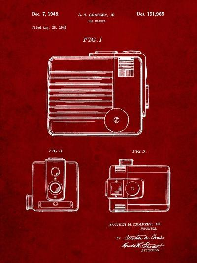 Kodak Brownie Hawkeye Patent-Cole Borders-Art Print