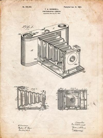 Kodak Pocket Folding Camera Patent-Cole Borders-Art Print