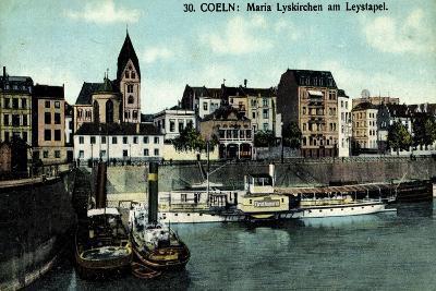 Köln, Maria Lyskirchen Am Leystapel,Dampfer Bismarck--Giclee Print