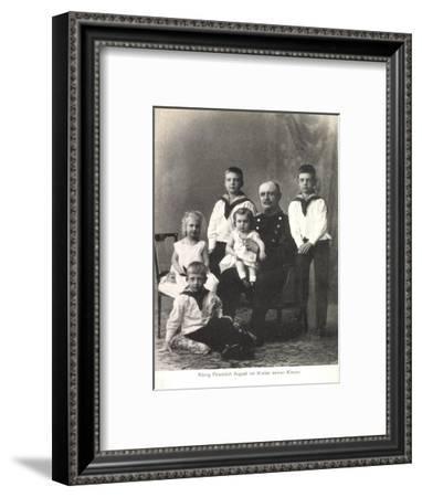 König Friedrich August Iii Von Sachsen, Kinder--Framed Giclee Print