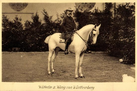König Wilhelm II Von Württemberg Zu Pferd--Giclee Print