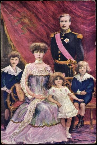 Königin Elisabeth Von Belgien, König Albert I--Giclee Print