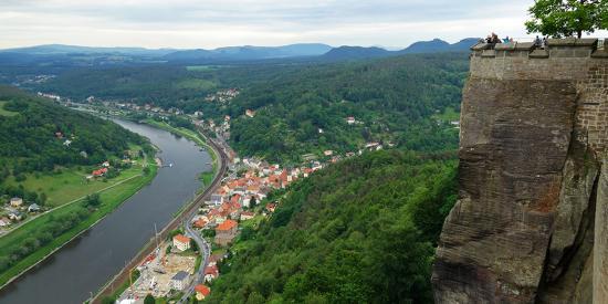 Koenigstein Fortress, Saxon Switzerland, Saxony, Germany, Europe-Hans-Peter Merten-Photographic Print