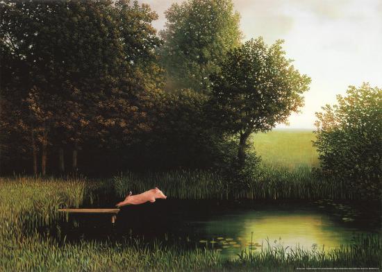 Kohler's Pig-Michael Sowa-Art Print