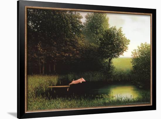 Kohler's Pig-Michael Sowa-Framed Art Print
