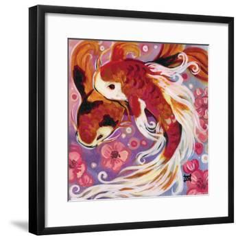Koi and Cherry Blossoms-Natasha Wescoat-Framed Giclee Print