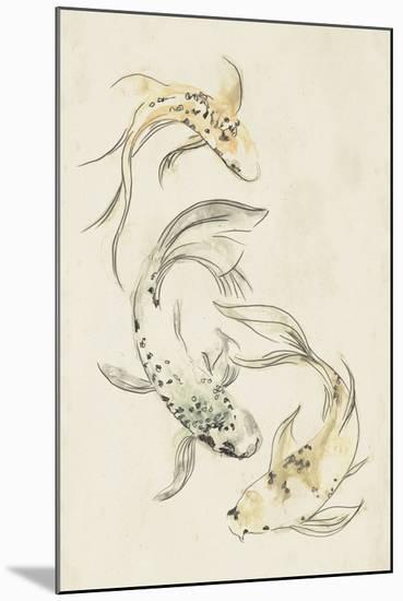 Koi Dance I-June Vess-Mounted Premium Giclee Print