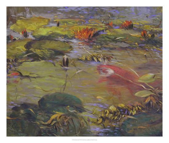 Koi & Lilies I-Chuck Larivey-Giclee Print