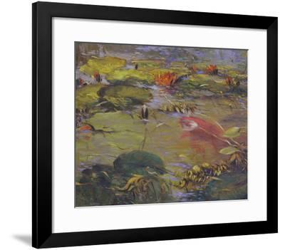 Koi & Lilies I-Chuck Larivey-Framed Giclee Print