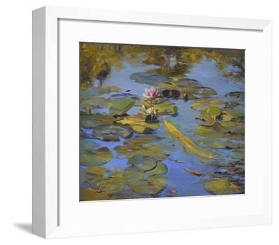 Koi & Lilies II-Chuck Larivey-Framed Giclee Print