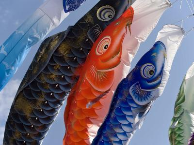 Koinobori, or Carp Streamers, Seen Throughout Japan around Children's Day, May 5Th, Japan--Photographic Print