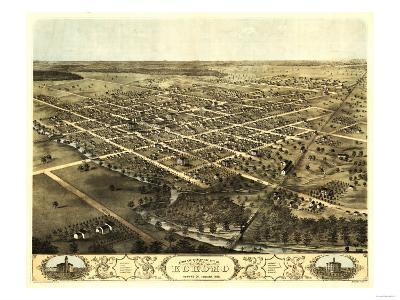 Kokomo, Indiana - Panoramic Map-Lantern Press-Art Print