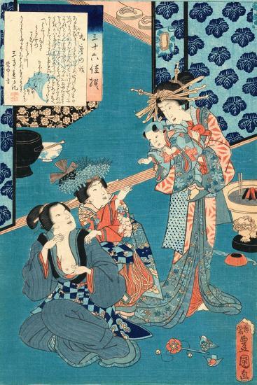 Kokonoe No Hanashi, Tale of the Courtesan Kokonoe. 1860., 1 Print : Woodcut, Color ; 36.8 X 24.9-Utagawa Toyokuni-Giclee Print