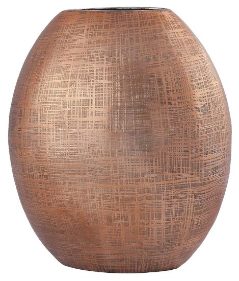 Kolkata 10 Inch Vase In Copper Home Accessories By Art