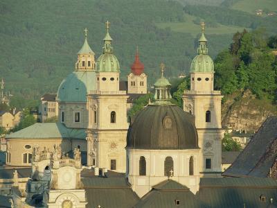 Kollegienkirche and Cathedral Domes, Salzburg, Austria, Europe-Gavin Hellier-Photographic Print