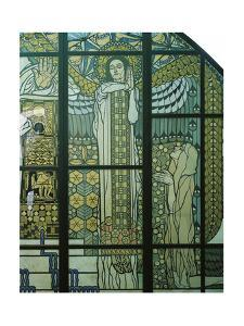 Paradise, Stained Glass Window by Kolo Moser