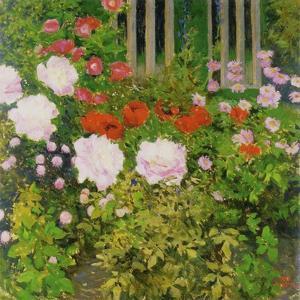 A Rose Hedge by Koloman Moser